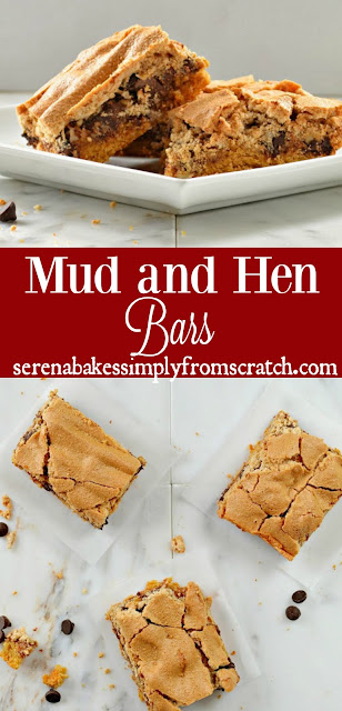 Mud and Hen Bars are a fun Christmas Cookie Bar that are easy to make and loved by all! serenabakessimplyfromscratch.com