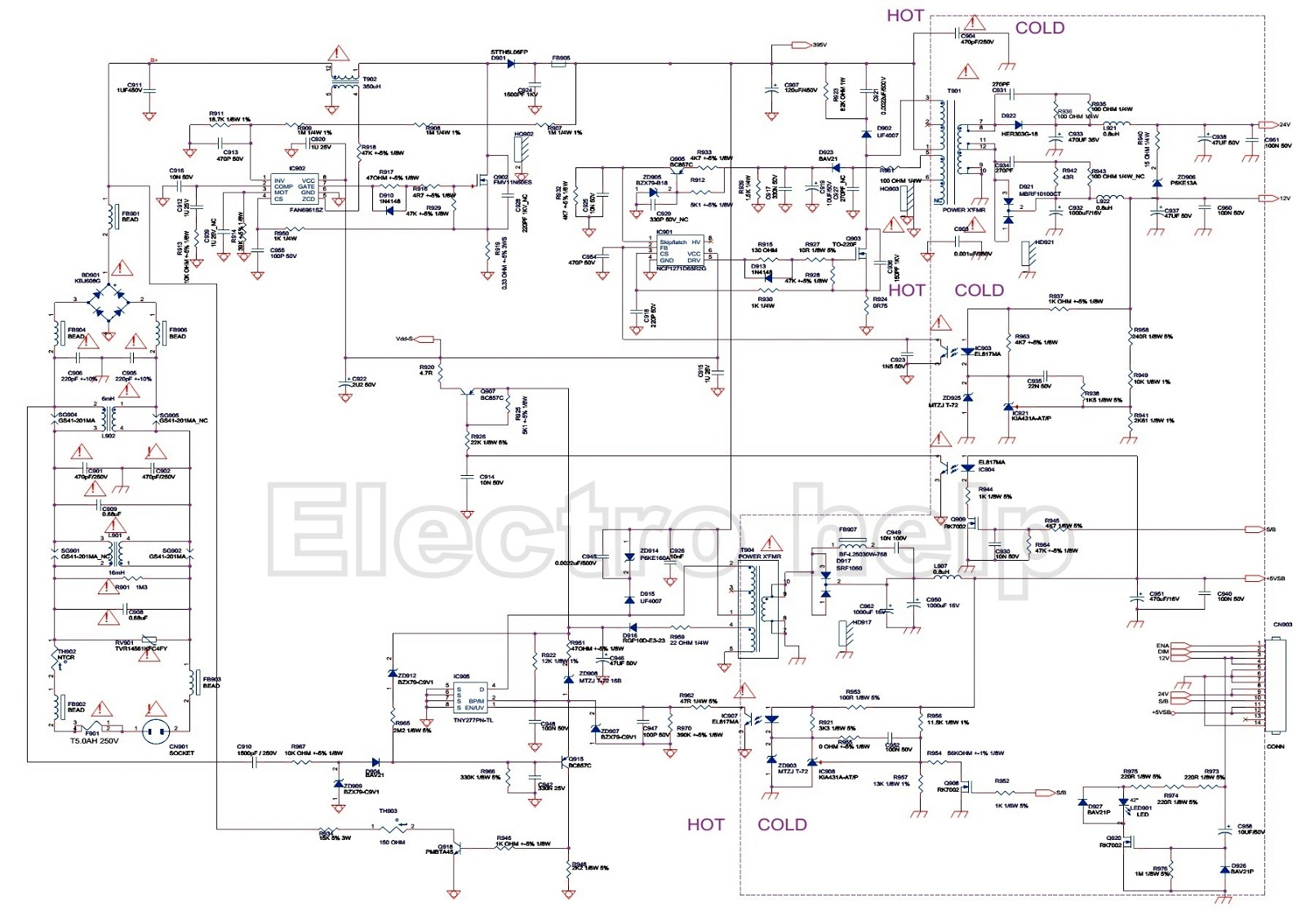 715g4802c china lcd tv power supply smps circuit diagram rh electronicshelponline blogspot com toshiba lcd tv circuit diagram lcd tv power supply circuit diagram
