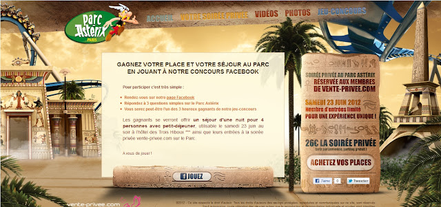 Jeux concours Parc Astérix: 3 séjours d'une nuit pour 4 personnes avec entrée au Parc parc asterix gratuit bon plan parc asterix jeux concours gratuit parc attraction france