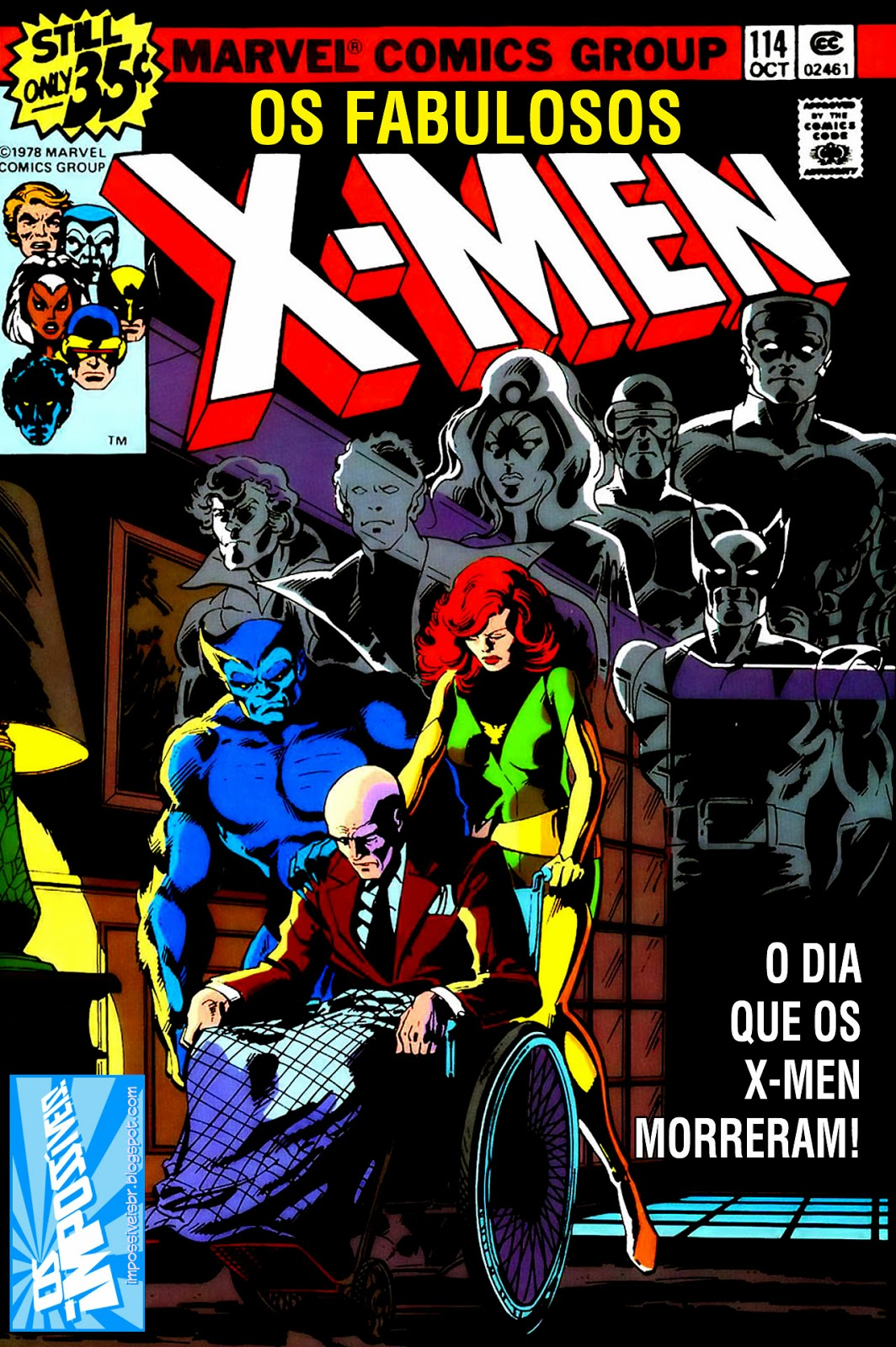 http://www.mediafire.com/download/jv56d91v9pa194g/Os.Fabulosos.X-Men.(X-Men.V1).114.HQBR.28OUT13.Os.Impossiveis.cbr