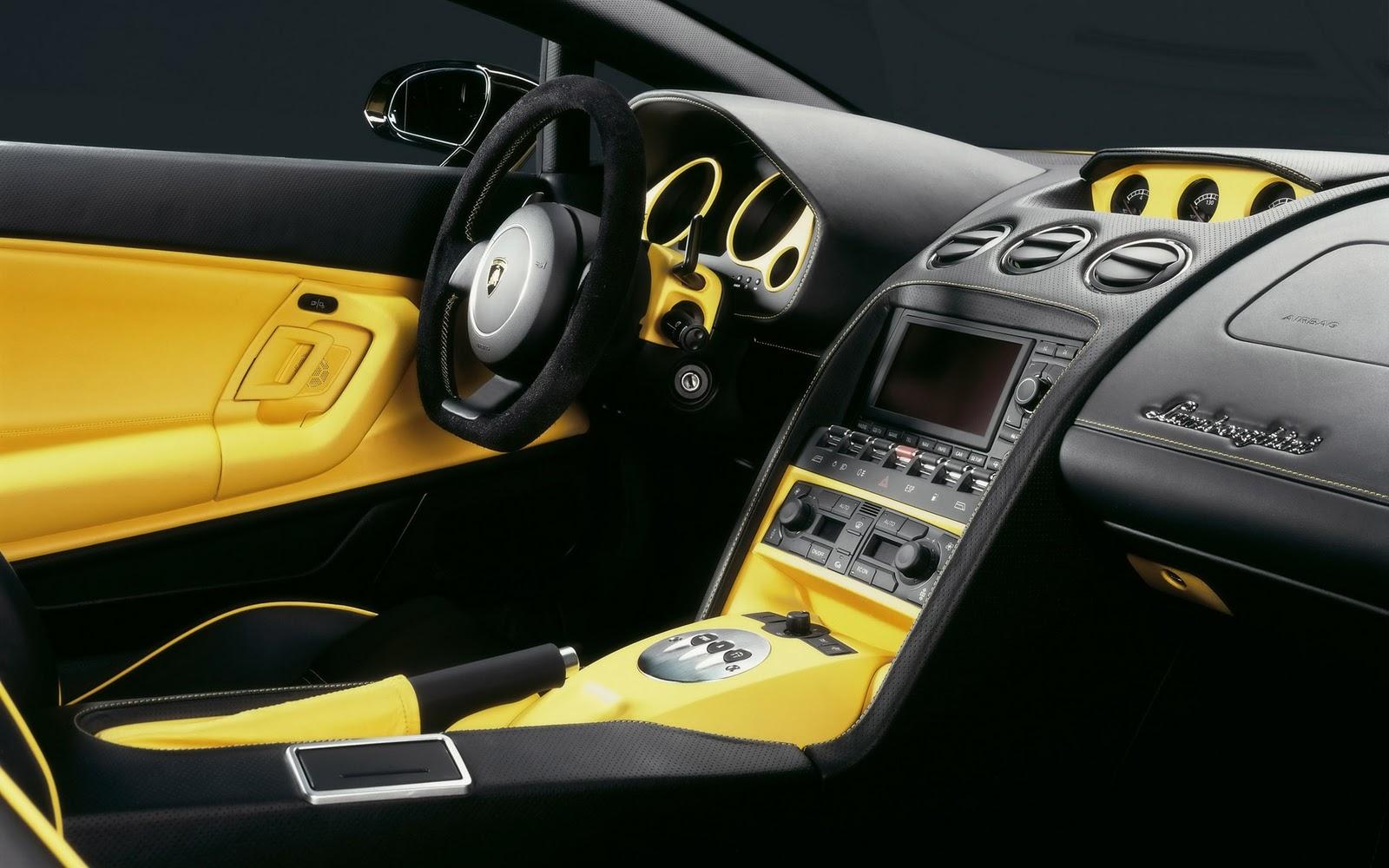 Lamborghini Car Interior Wallpaper HD