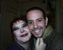 Con Maria Nieves en el Tetaro Municipal de Santiago de Chile