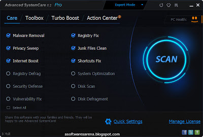 Advanced SystemCare pc software full version free download
