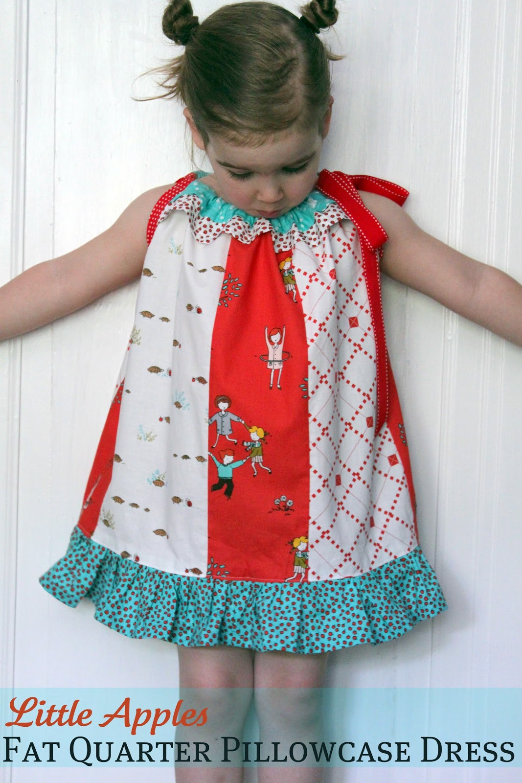 Pattern Remix: Little Apples Fat Quarter Pillowcase Dress - The ...