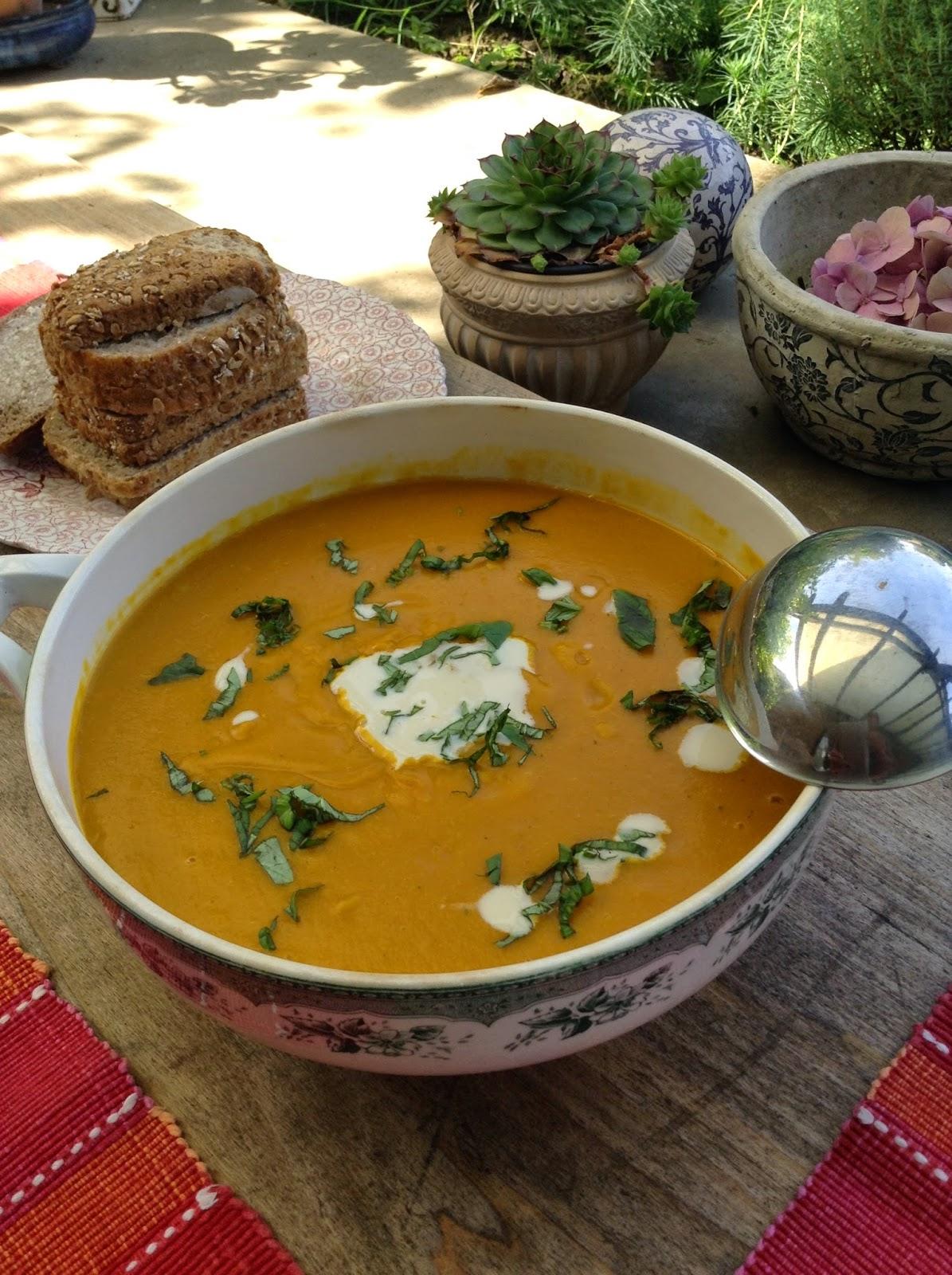 potage soupe potimarron basilic