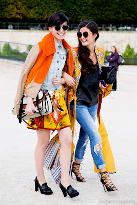 street style, winter fashion, orange, candice lake, fashion week