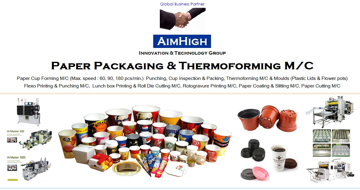AIMHIGH KOREA, a leading supplier of paper packaging & Thermoforming machinery in South Korea