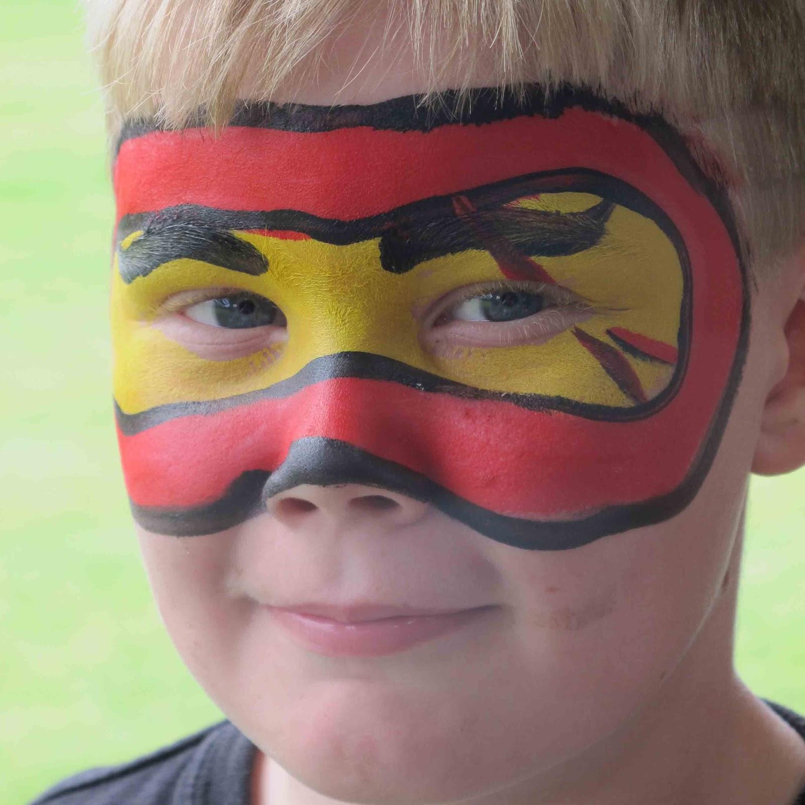 Ausmalbilder Ninjago Gesicht: West Coast Face Painting PH 768 4381