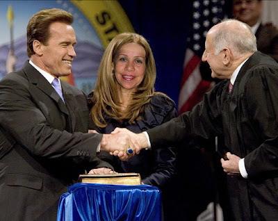 Arnold Schwarzenegger, Gigi Goyette, Mildred Baena