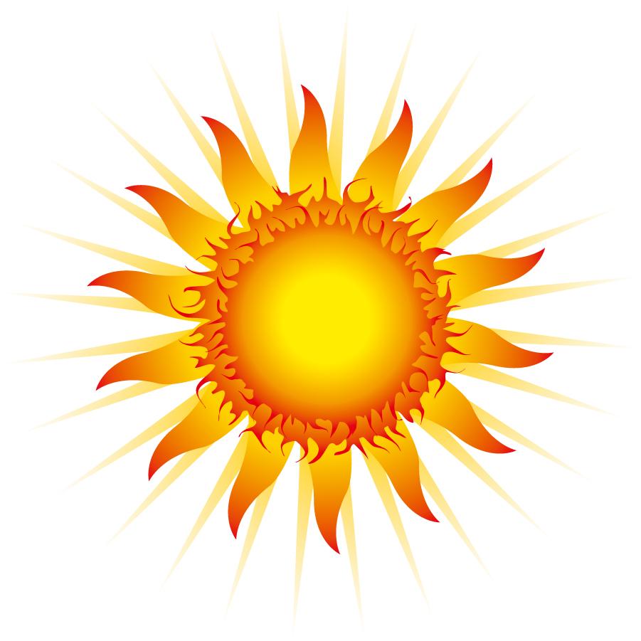 輝く太陽のクリップアート light flame sun icons イラスト素材5