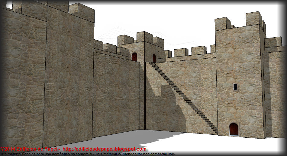 Staircase, walls, towers and battlements of the Medieval Fortification