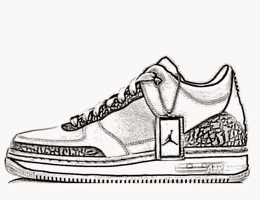 Nike Shoes Coloring Page Kids Coloring