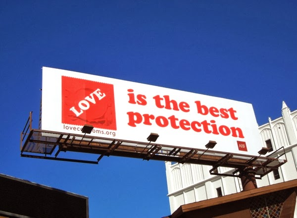 Love is the best protection condoms billboard