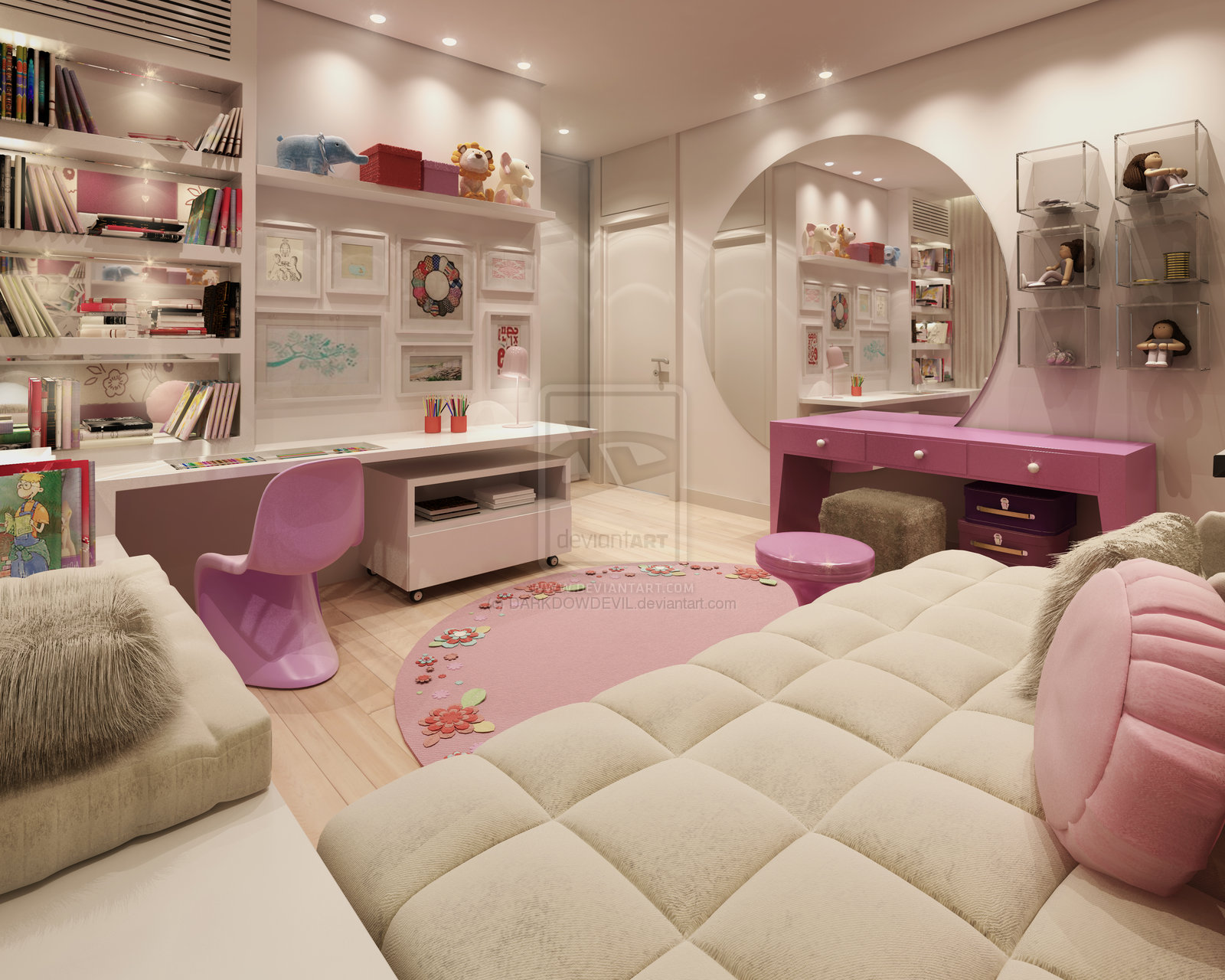 Girly bedroom design ideas bellisima for Beautiful room design for girl