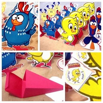 cone para guloseimas galinha pintadinha