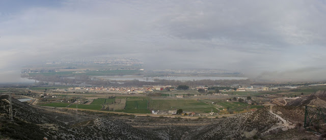 Vista Ebro Burgo de Ebro ermita de San Jorge