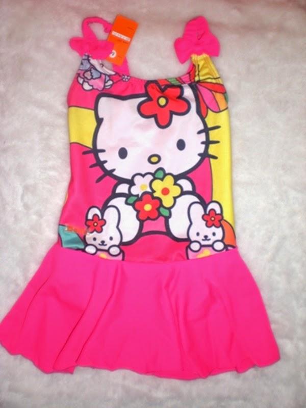 Baju renang hello kitty untuk anak