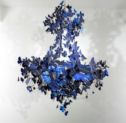 Virtue of blue, farfalla fotovoltaica