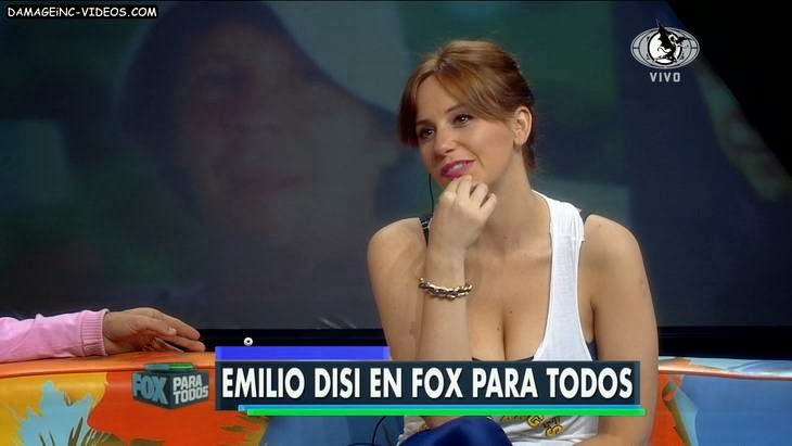 Las tetas de Cayetina en Fox Sports video HD