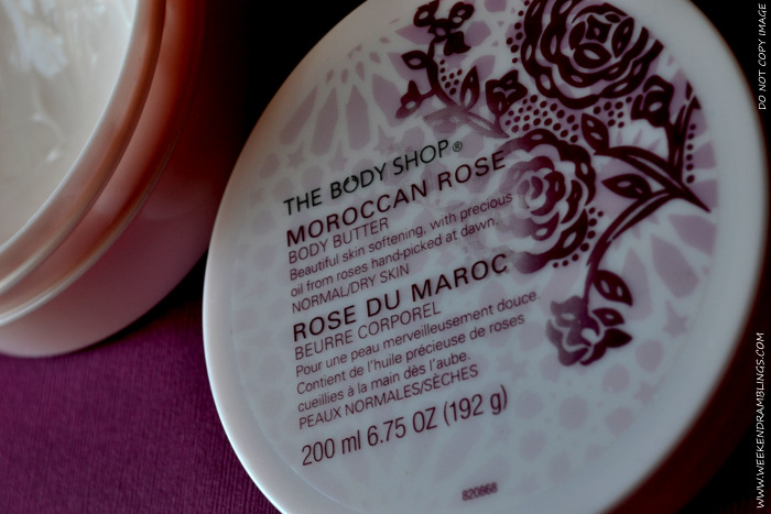 The Body Shop Moroccan Rose Body Butter TBS Organic Natural Skincare Blog Reviews Ingredients