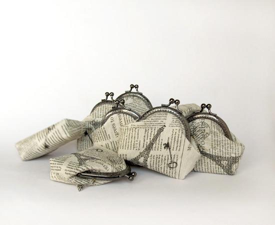 Newspaper purses, кошельки, шитье