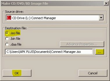 make cd dvd  bd image file power iso