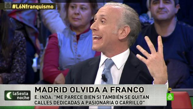 Eduardo Inda partidario de retirar las calles dedicadas a Pasionaria y Carrillo en Madrid