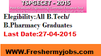 TS PGECET Notification 2015 Apply Online