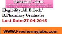 TS PGECET Notification 2015 Apply Online