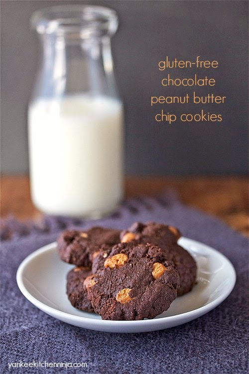 Gluten-free chocolate peanut butter chip cookies