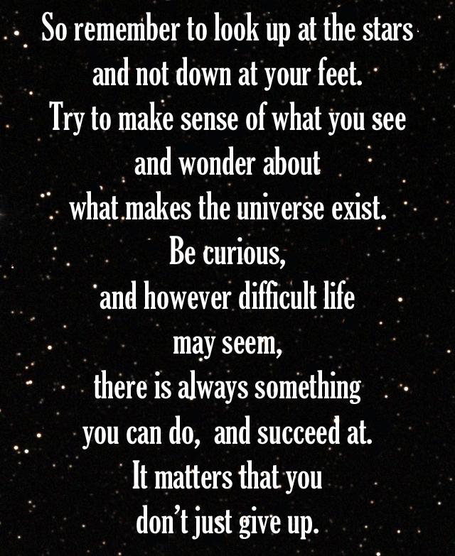 Stephen Hawking Speech Quote