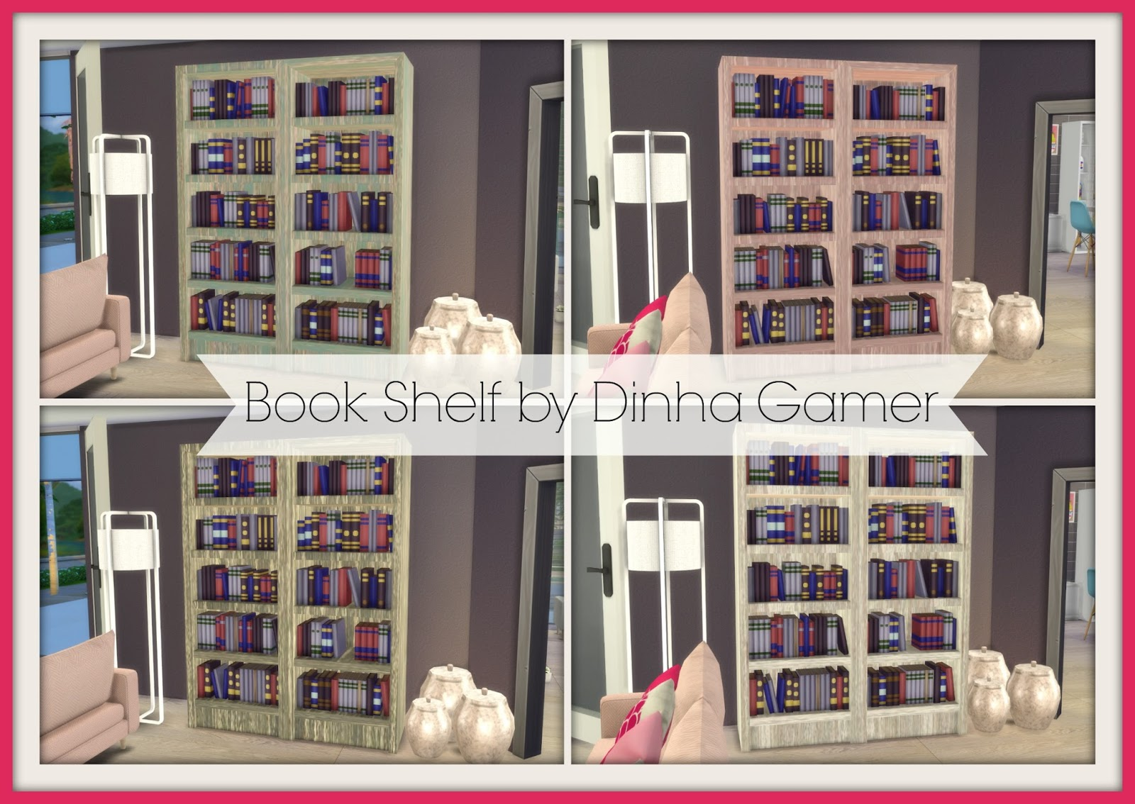 Very Impressive portraiture of My Sims 4 Blog: Bookshelf by DinhaGamer with #B31843 color and 1600x1134 pixels