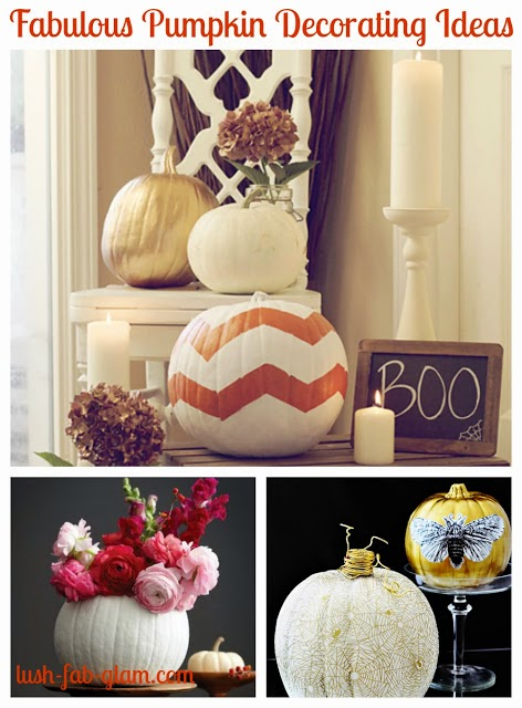 12 Fabulous Ways To Decorate With Pumkins.