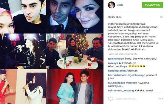 Siti Nurhaliza Kongsi Doa Terakhir Tunku Jalil Buat Dirinya