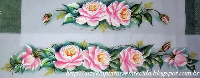 pintura em tecido toalha banho paintada