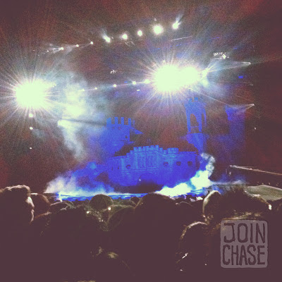 """The stage for Lady Gaga's """"Born This Way Ball"""" in Seoul, South Korea."""