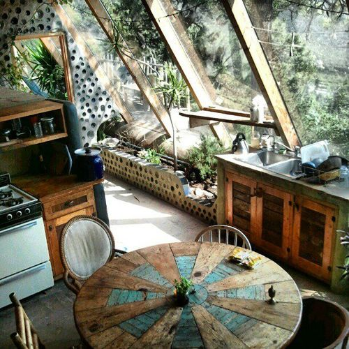 Moon to moon earthships for Garden home interiors