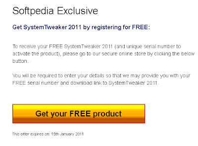 get sytem tweaker with serial number