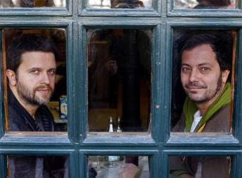 En la foto, Juan Carlos Fresnadillo y el productor Enrique López Lavigne