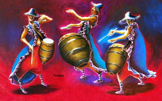 3 tambours, candombe, mayanscandombe, art, clipart, artpreneure
