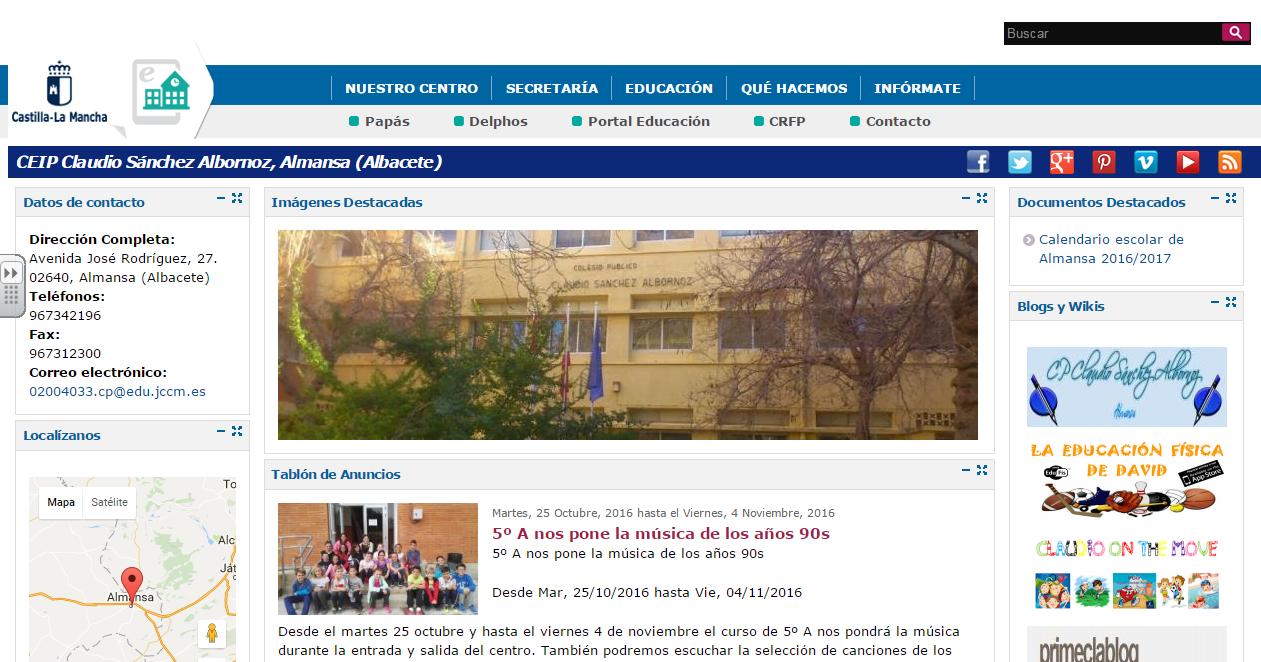 WEB OFICIAL DEL COLEGIO