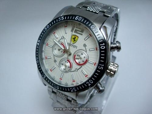Jam Tangan KW Super Ferrari 305 Silver White Terbaru Murah dan Bagus