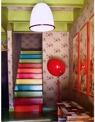 Colorful Painted Stairs