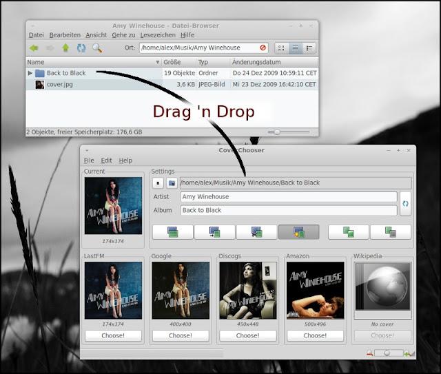 Descargar caratulas de los discos con CoverChooser en Ubuntu