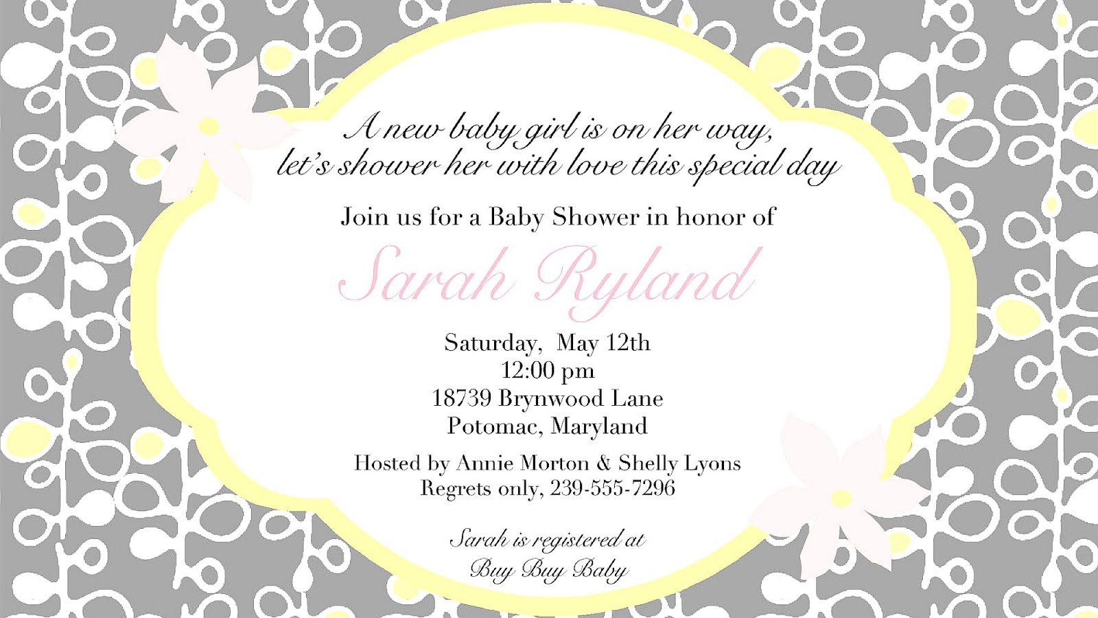 Cute Baby Shower Invite Wording - Cute Choices
