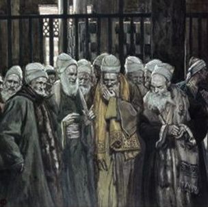 Pharisees painting debating