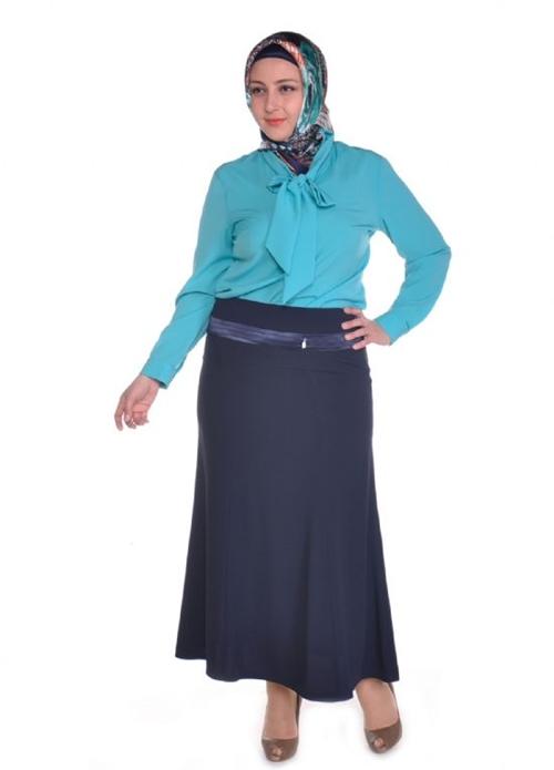 Sima Büyük Beden Tesettür Uzun Etek Modelleri
