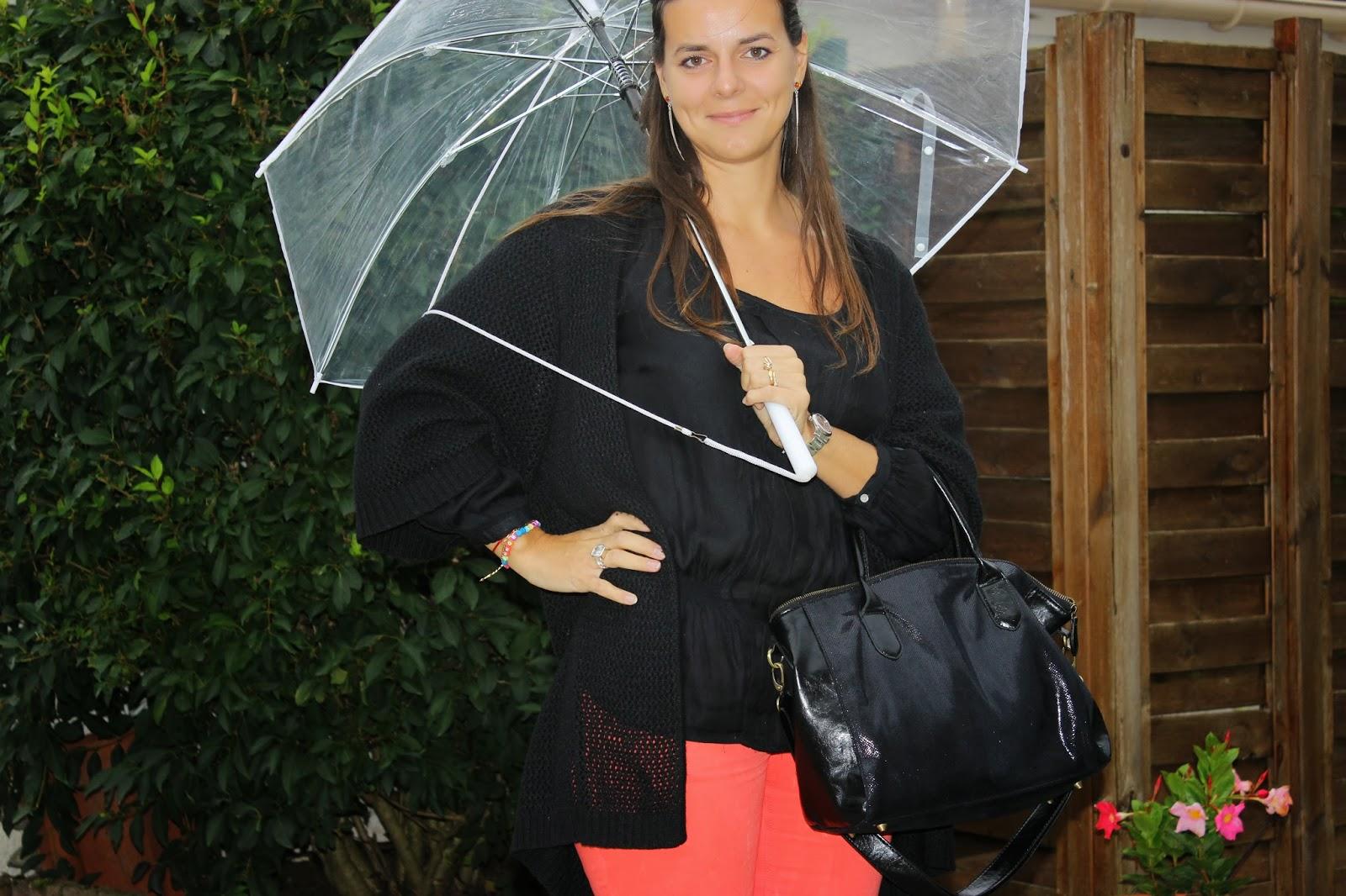 Salsa jean, parapluie transparent, sac naf naf