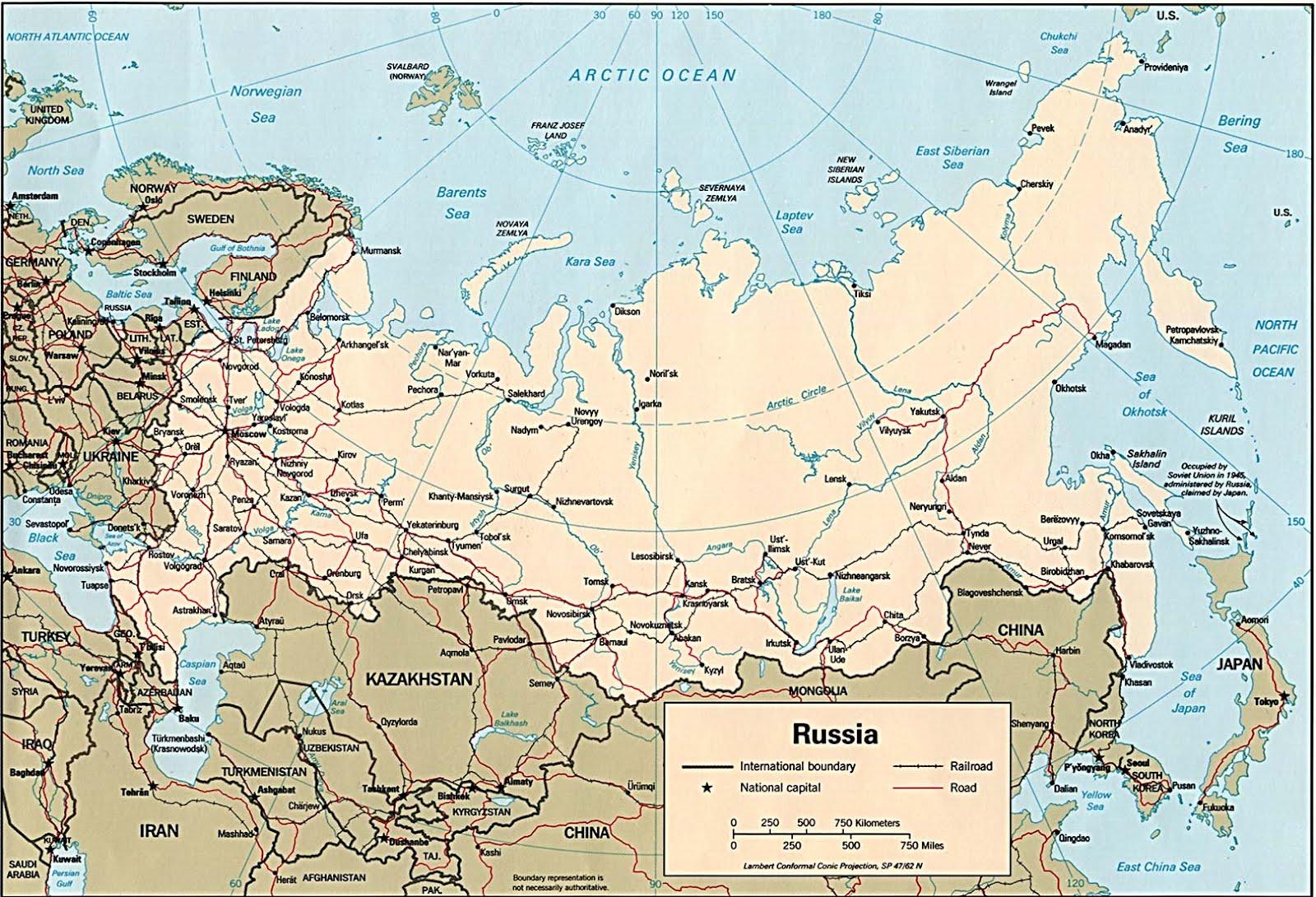 Kaart rusland topografie cia