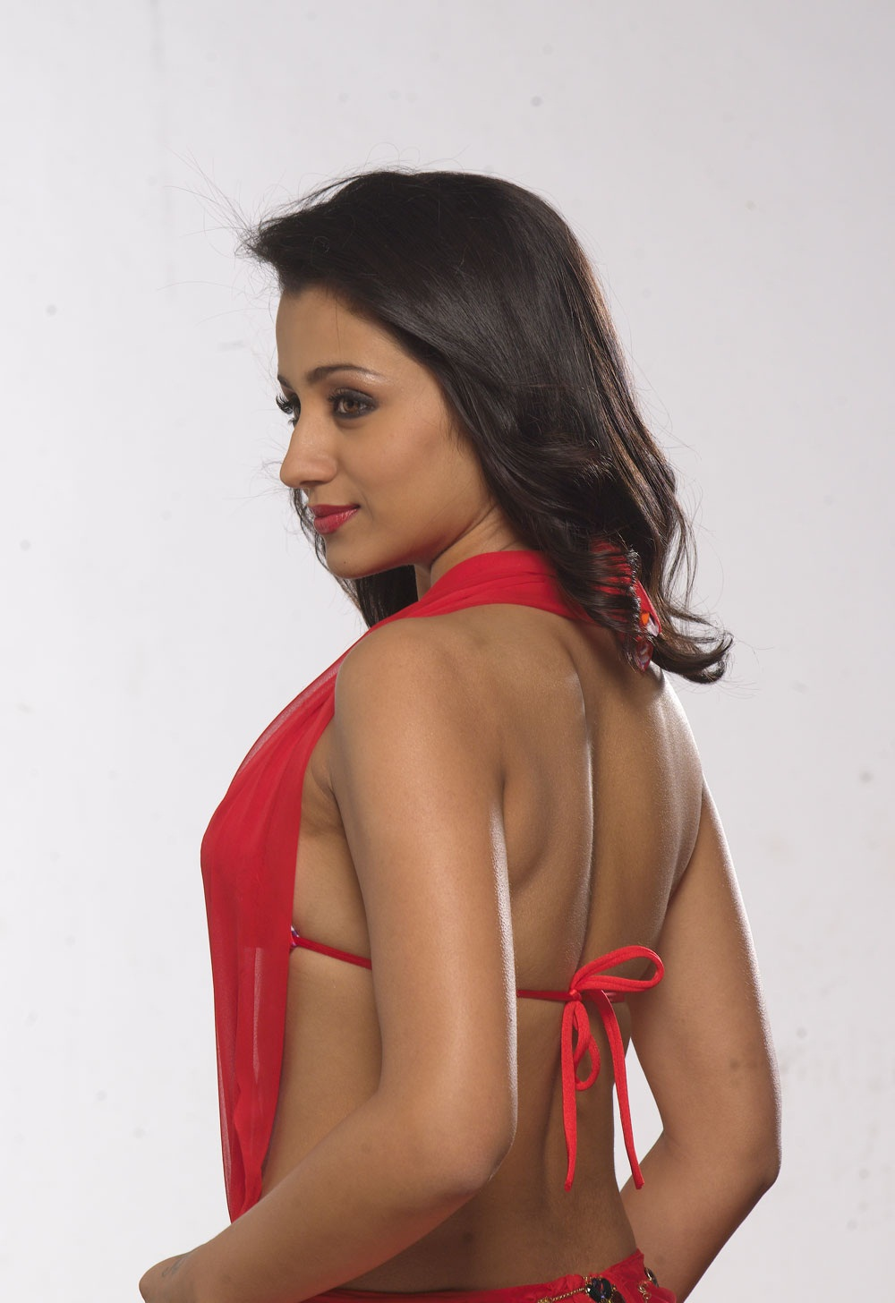Trisha Hot Photoshoot in Red Dress